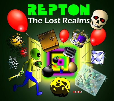 REPTON THE LOST REALMS Sketch